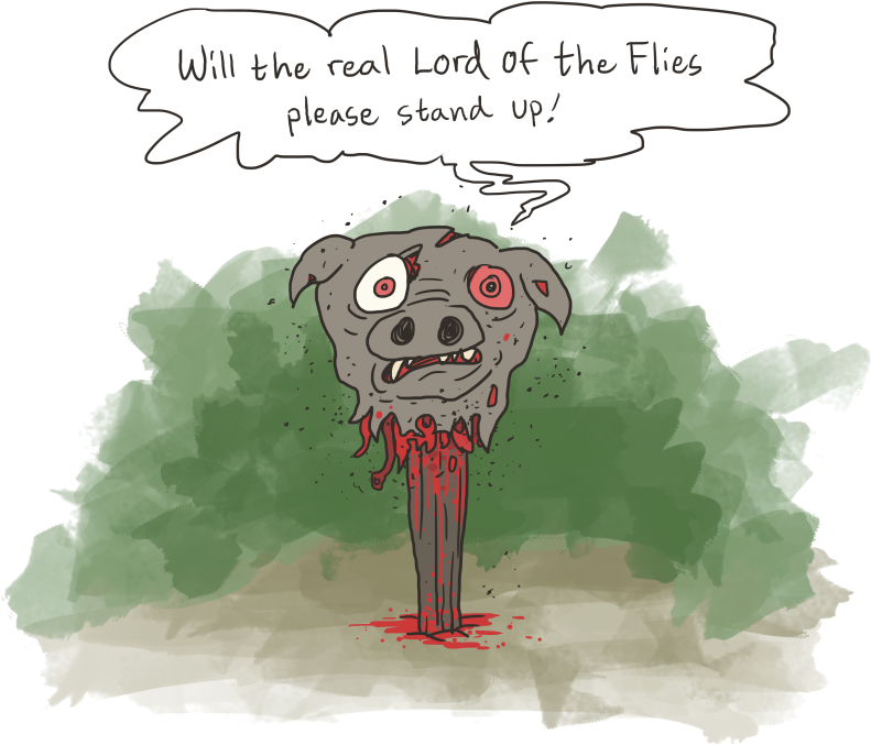 what does the lord of the flies tell simon